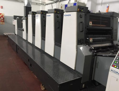 KOMORI LITHRONE 4 COLORES + BARNIZ
